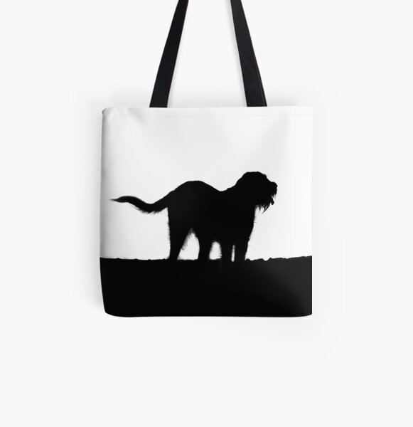 Italian Spinone Silhouette All Over Print Tote Bag