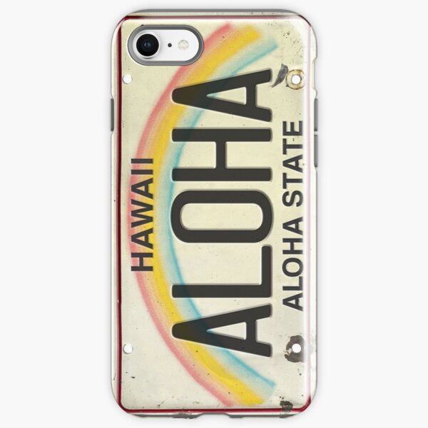 Vintage Hawaii License Plate Aloha iPhone Tough Case
