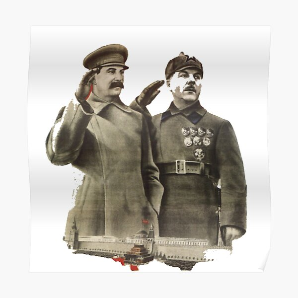 #Stalin #Soviet #Propaganda #Posters #twopeople #matureadult #adult #standing #militaryofficer #militaryperson #military #people #uniform #army #portrait #militaryuniform #war #realpeople #men #males Poster