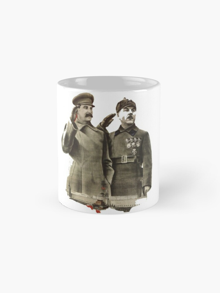 Alternate view of #Stalin #Soviet #Propaganda #Posters #twopeople #matureadult #adult #standing #militaryofficer #militaryperson #military #people #uniform #army #portrait #militaryuniform #war #realpeople #men #males Mug