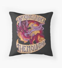 I am King Under the Mountain Throw Pillow