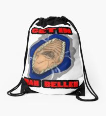 Get In Mah Belleh Blue Drawstring Bag