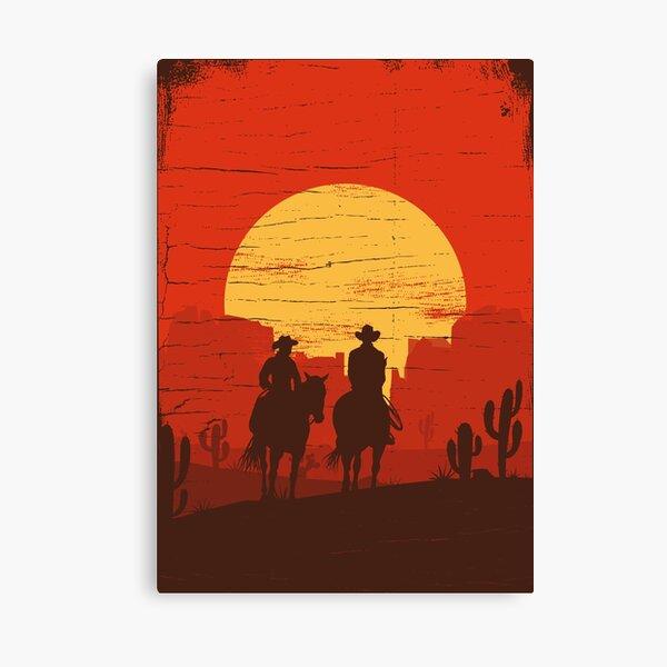 Cowboys des Wilden Westens - Reise Leinwanddruck