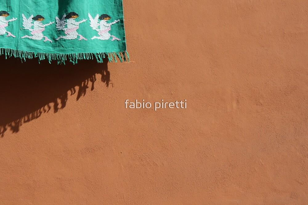 four angels on a green carpet by fabio piretti