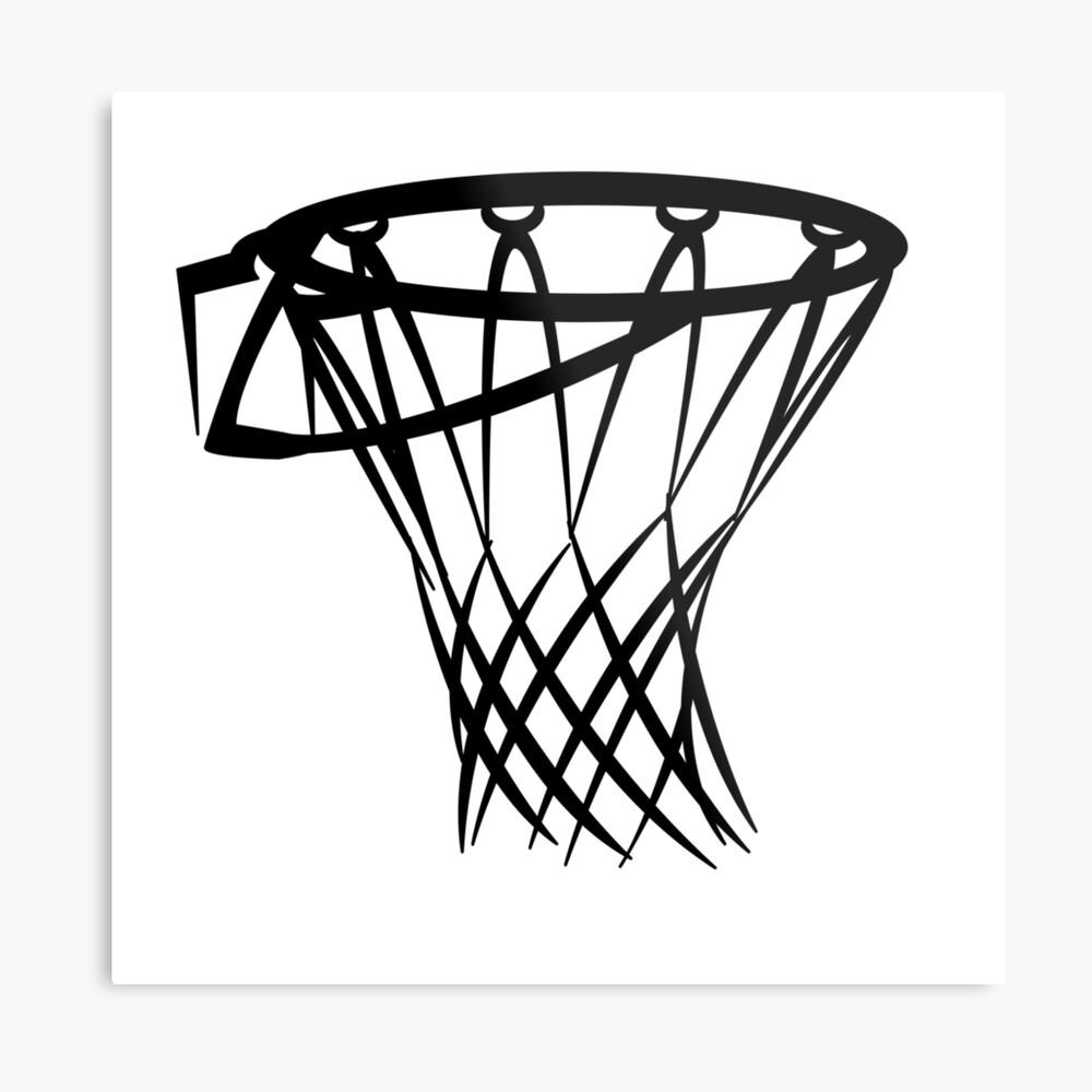 Basketball basketball hoop Metal Print