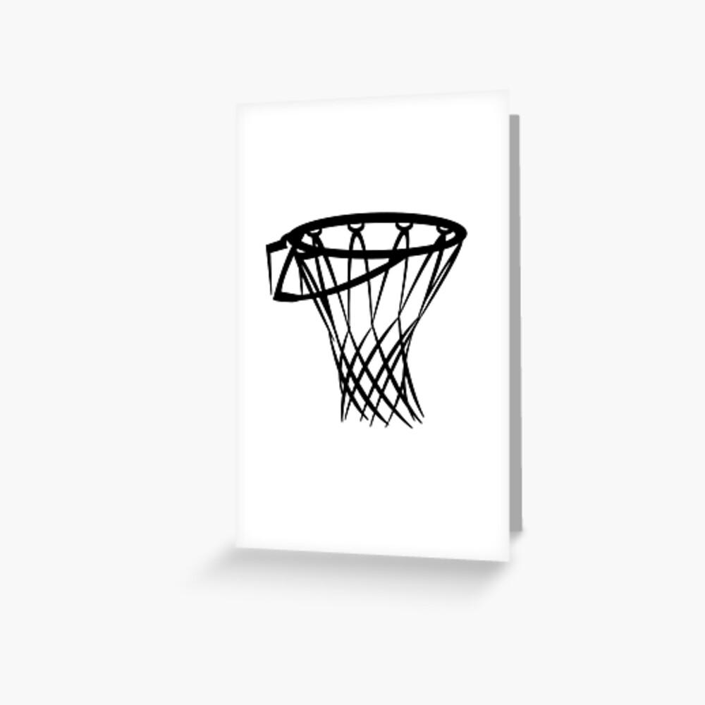 Basketball basketball hoop Greeting Card