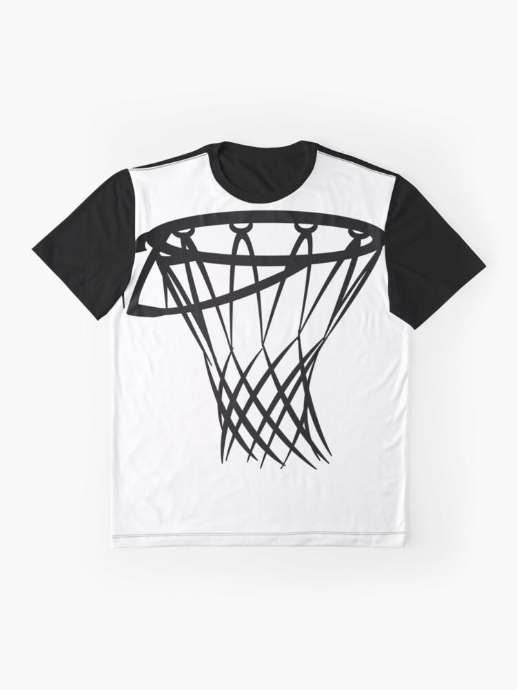 Alternate view of Basketball basketball hoop Graphic T-Shirt