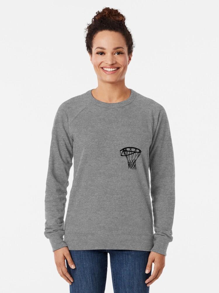 Alternate view of Basketball basketball hoop Lightweight Sweatshirt