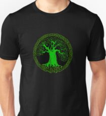 Celtic Tree (Green version) Unisex T-Shirt