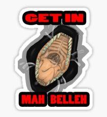 Get In Mah Belleh Black Sticker