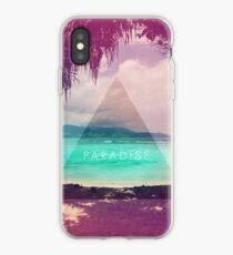 Vinilo o funda para iPhone Paradise // Foto de la playa del triángulo Hipster se desvaneció retro