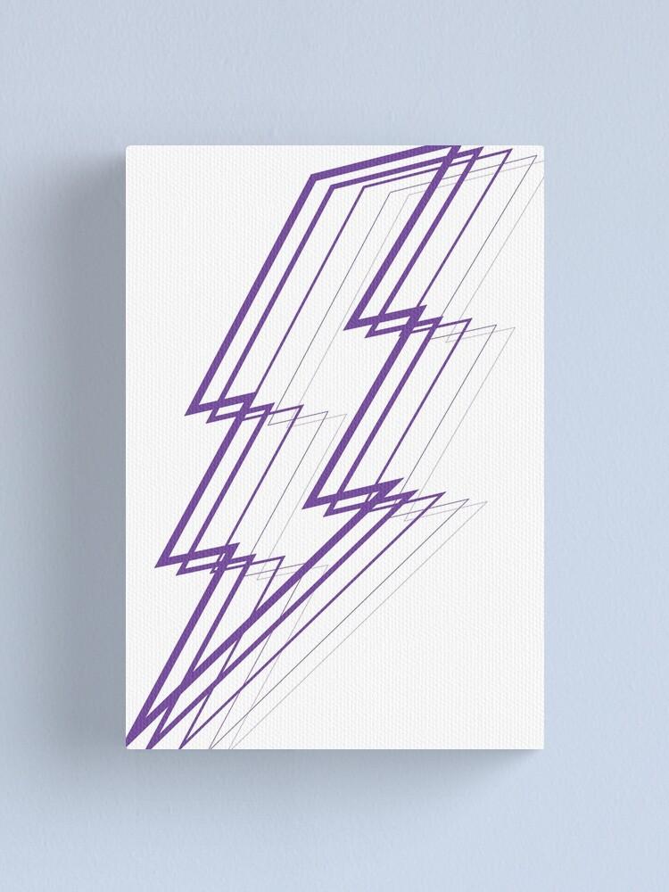 Alternate view of Purple Lightning Canvas Print