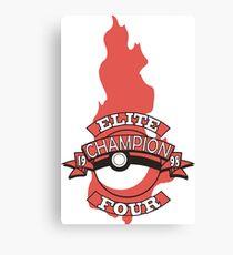 Elite Four Champion Flame Canvas Print