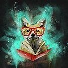 Fox Reader by eviebookish
