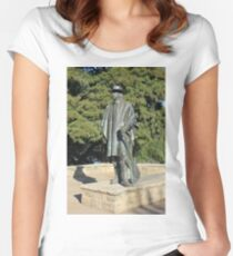 Stevie Ray Vaughan Statue Women's Fitted Scoop T-Shirt
