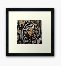 Wood knot Framed Print