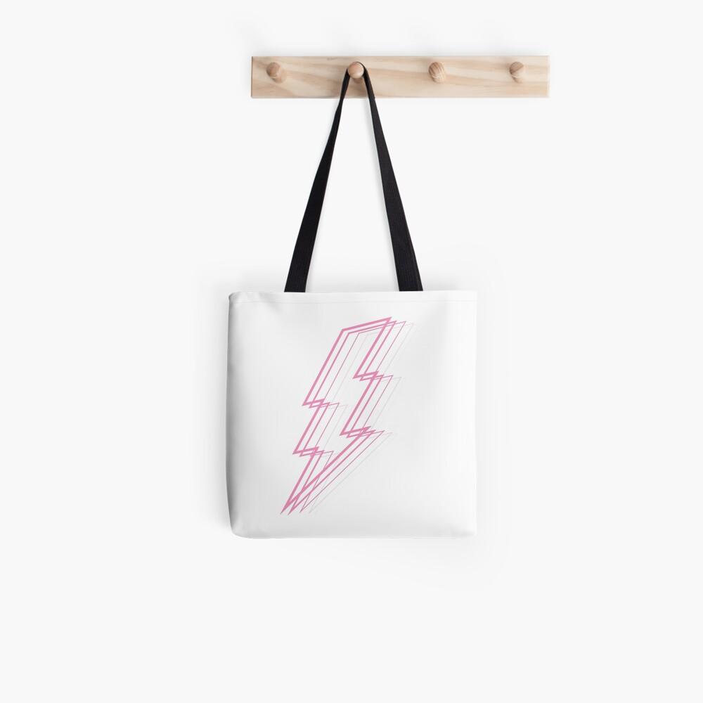 Pink Lightning Tote Bag