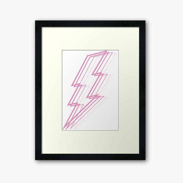 Pink Lightning Framed Art Print