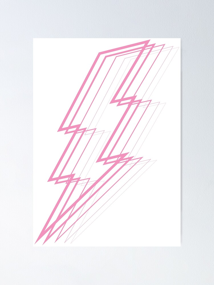 Alternate view of Pink Lightning Poster