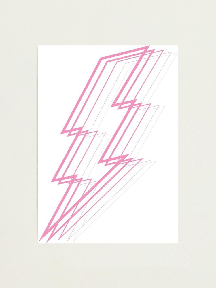 Alternate view of Pink Lightning Photographic Print