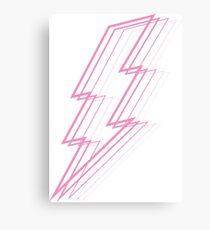 Pink Lightning Canvas Print