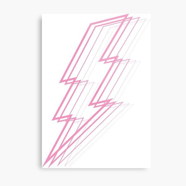 Rosa Blitz Metallbild