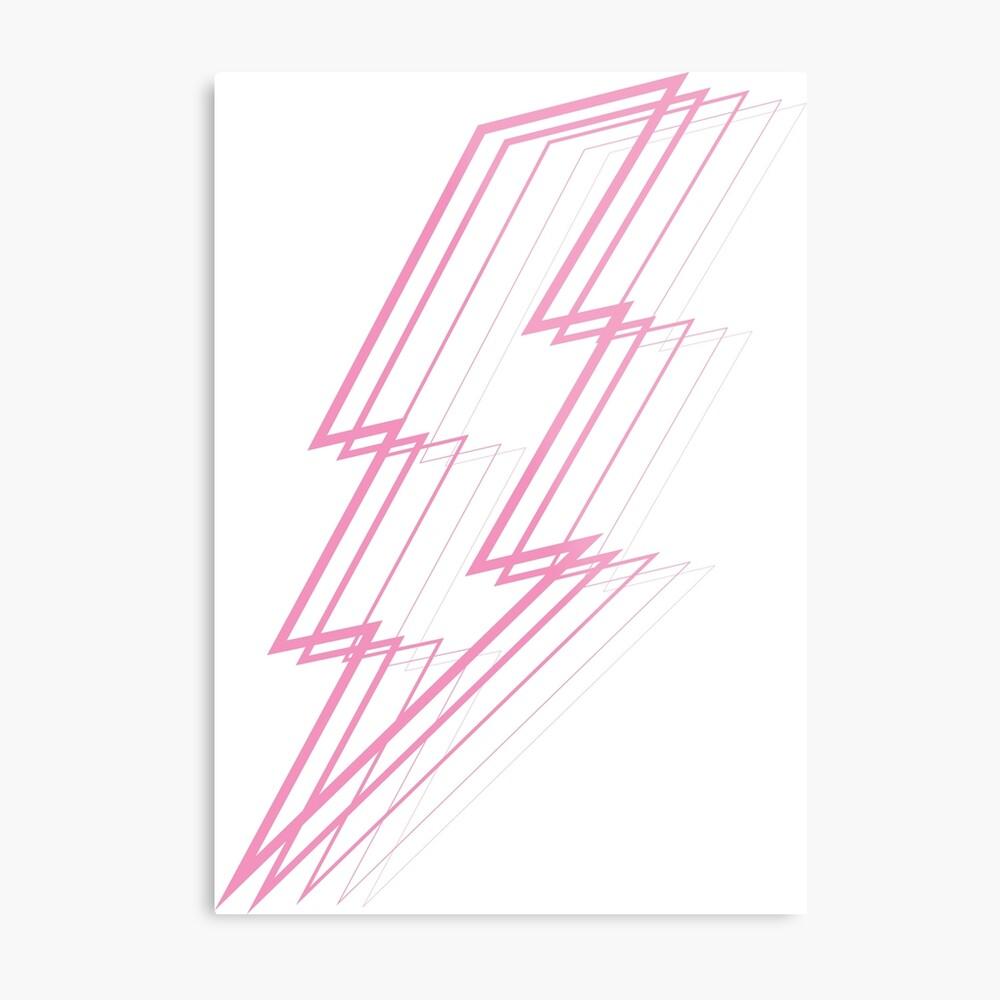 Pink Lightning Metal Print