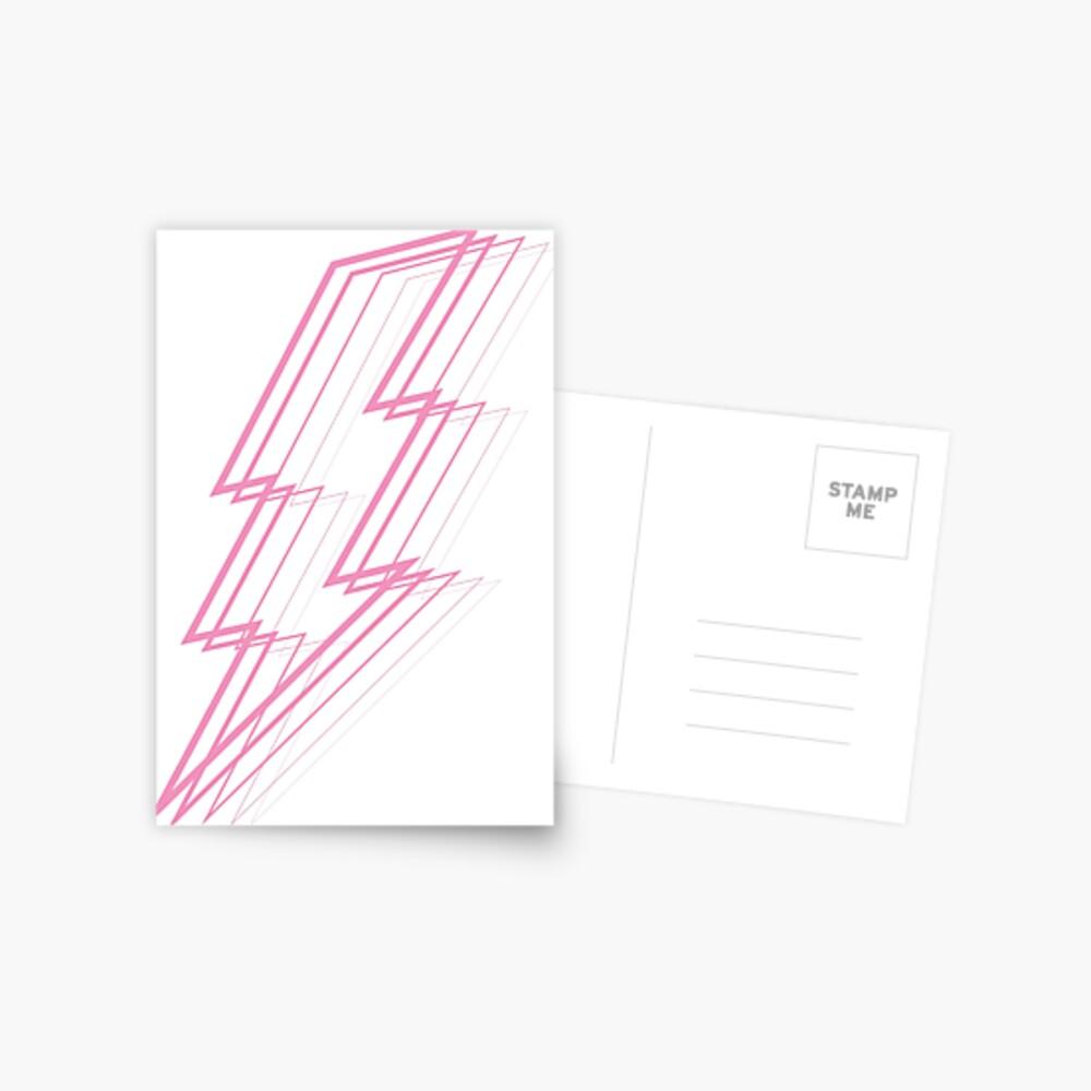 Pink Lightning Postcard