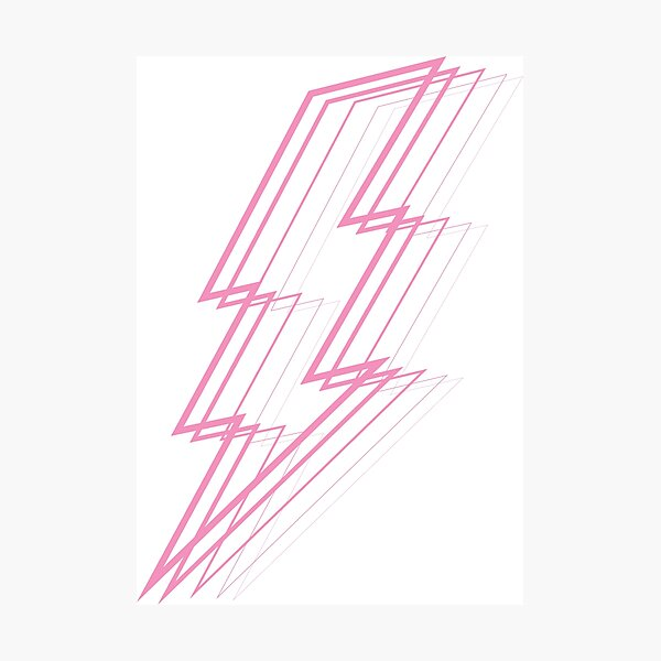 Pink Lightning Photographic Print