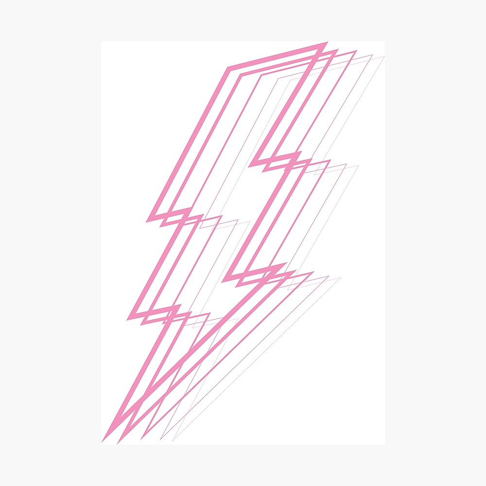 Pink Lightning Photographic Print