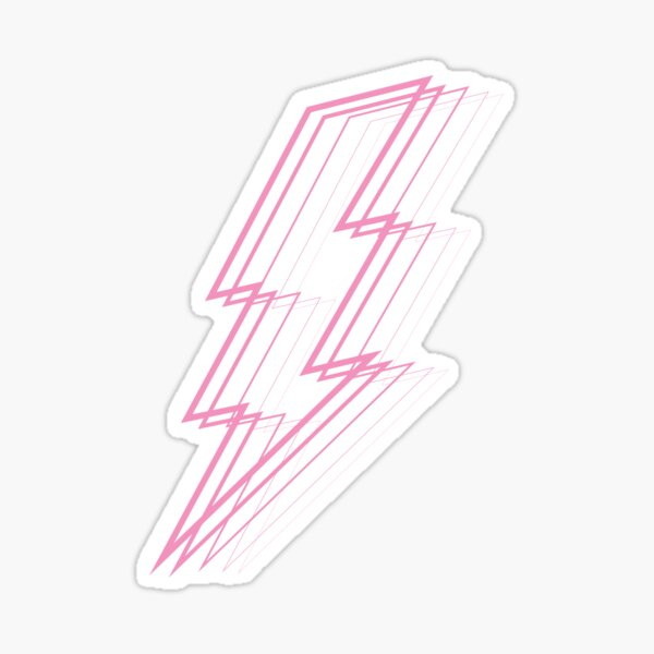 Pink Lightning Sticker