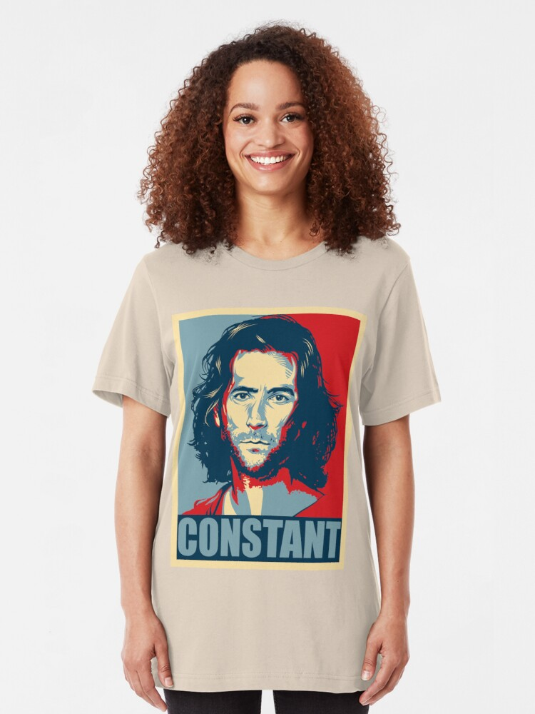 Alternate view of Desmond Hume from Lost - Shepard Fairy Poster Style Slim Fit T-Shirt