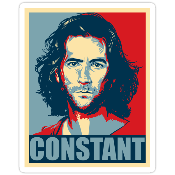 Desmond Hume from Lost - Shepard Fairy Poster Style by jimiyo