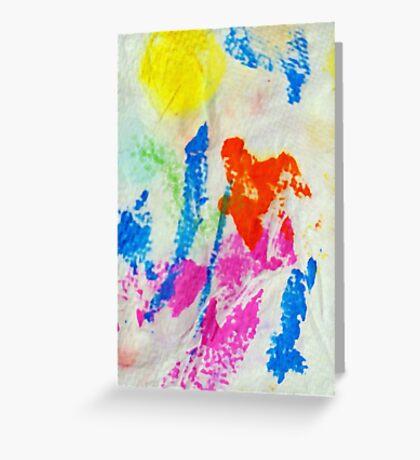 Messy Towel Greeting Card