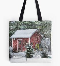 Little Red Garden Shed Tote Bag