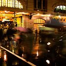 Flinders Street Rush by Andrew Brown