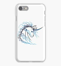 Ki-Rin (Japanese Unicorn) - Blue iPhone Case/Skin