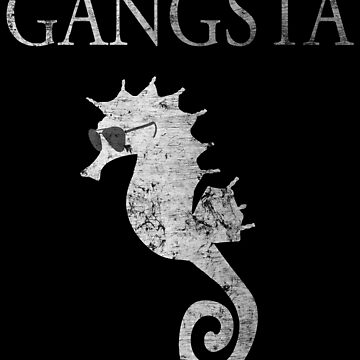 Cool gangsta sea horse gift with sunglasses by NiceTeee