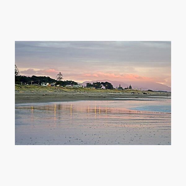 The Bright Lights of Otaki Beach Photographic Print