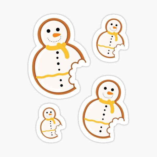 Snowman Gingerbread Cookie Sticker