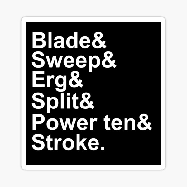 Rowing Terms Glossary Sticker