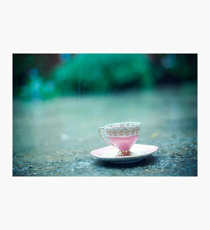 raining on her teacup Photographic Print