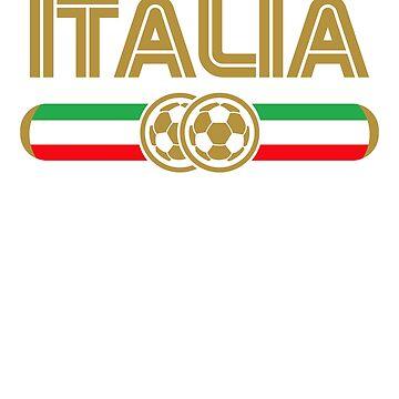 Italia! Italian Football Soccer Jersey Gift by MikeMcGreg