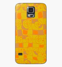 Geometric in Yellow and Orange Case/Skin for Samsung Galaxy