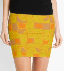 Geometric in Yellow and Orange Mini Skirt