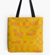 Geometric in Yellow and Orange Tote Bag