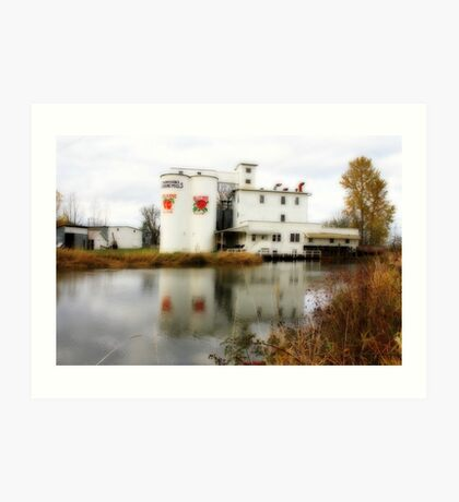 Thompsons Flour Mill Art Print