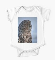 Contemplation - Great Grey Owl Kids Clothes