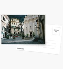 Airole, Ligura, Italy, the piazza Postcards