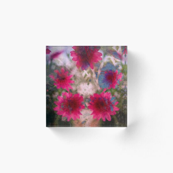 Abstract flowers Acrylic Block